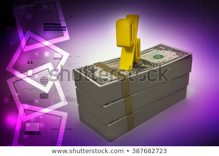 Photo stock: Percent Sing And Dollar Pack