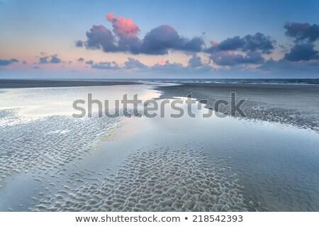 sunrise · plage · faible · marée · ciel · soleil - photo stock © moses