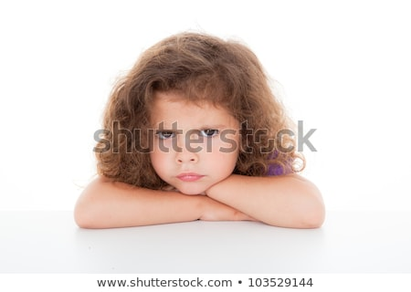 Ranzinza little girl cara triste feminino raiva Foto stock © photography33