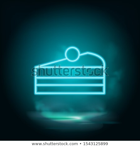 vector blue cupcake stock photo © freesoulproduction