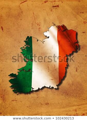 irlandés · bandera · cielo · azul - foto stock © marinini