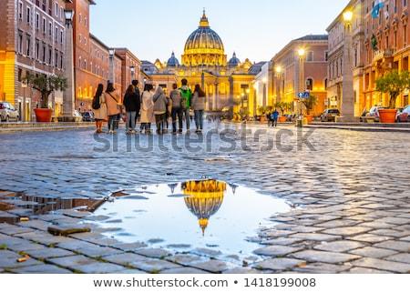 ローマ 通り 詳細 古い ローマ ストックフォト © Kacpura