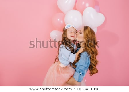 portrait of mother and daughter at birthday party Stock photo © photography33