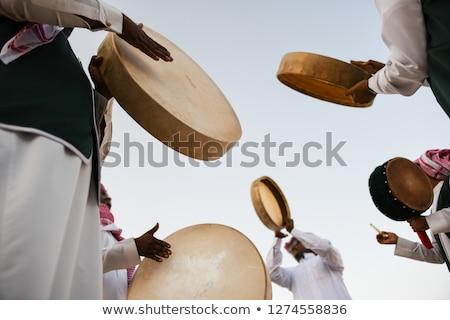 Árabe tradicional punhal segurança faca aço Foto stock © ozaiachin