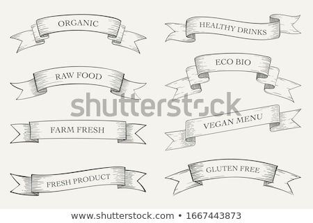 collection of vector retro ribbons stock photo © orson