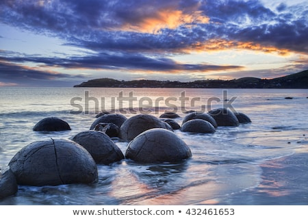 Moeraki Boulder East Coast of south New Zealand Stock photo © 3523studio