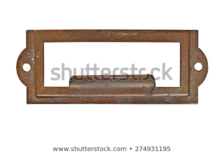 Old Flat File Drawers With Blank Labels Stock photo © 3mc