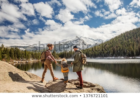Stock fotó: Természetjáró · hegy · nő · alpesi · ösvény · sport