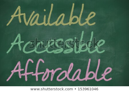 Acronym of AAA - available, accessible. affordable written on a blackboard  Stock photo © bbbar