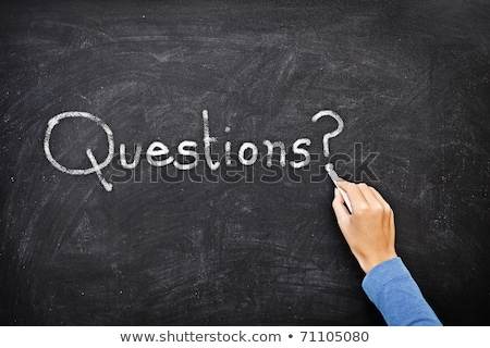 help written with chalk on a blackboard background stock photo © bbbar