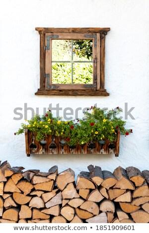 résumé · feu · cadre · mur · de · briques · mur · guerre - photo stock © sirylok
