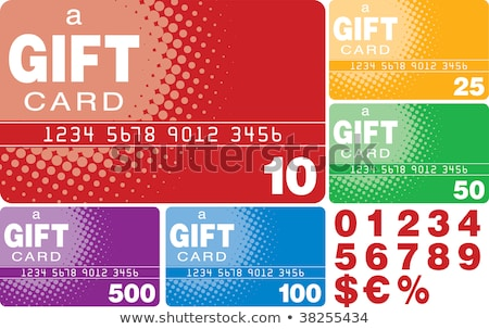 Arco iris elementos tarjeta de regalo alto gráfico Foto stock © kbuntu