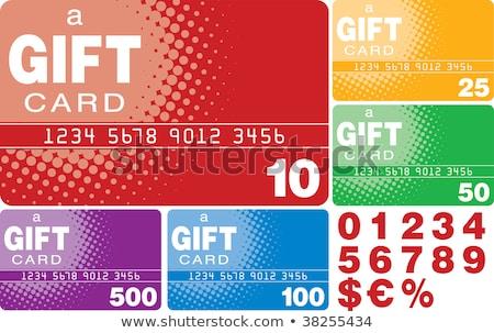 Regenbogen Elemente Geschenkkarte groß Auflösung Grafik Stock foto © kbuntu