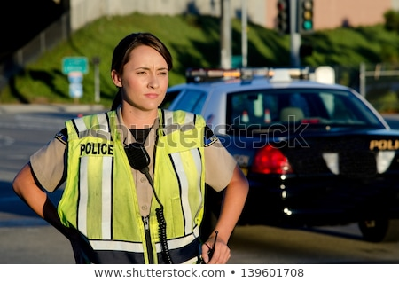 Pretty Police Woman Stock photo © Kakigori