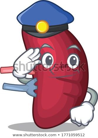 poliziotto · mangiare · ciambella · auto · po - foto d'archivio © lisafx