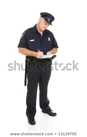 полицейский мнение Дать движения изолированный Сток-фото © lisafx
