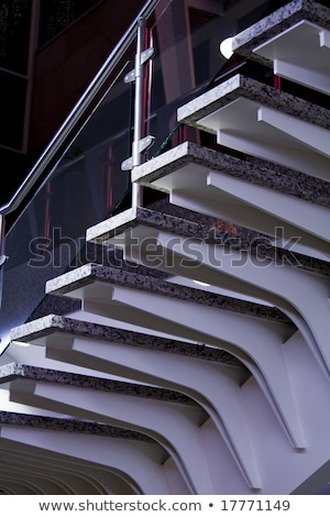 Moderne glas metaal roltrap detail Stockfoto © travelphotography