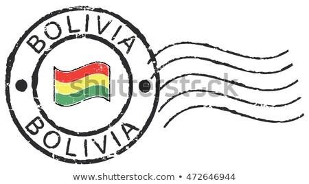 Posta Bolívia kép bélyeg térkép zászló Stock fotó © perysty