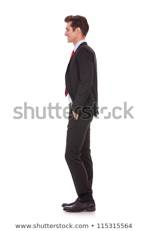 Stock photo: side view profile of a well dressed business man