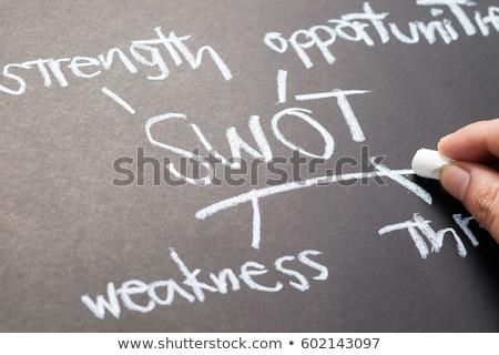 chalkboard writing   swot stock photo © raywoo