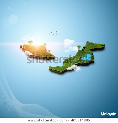 fekete · Malajzia · térkép · város · terv · háttér - stock fotó © vectorminator