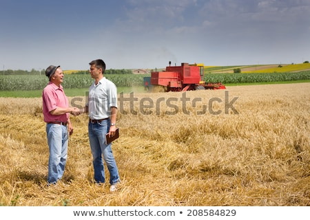 plant in hands of agricultural worker stock photo © stevanovicigor