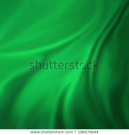 Creased Green Fabric Background Stock photo © THP