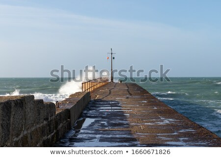 The Jetty In Porthleven Cornwall stock photo © mosnell