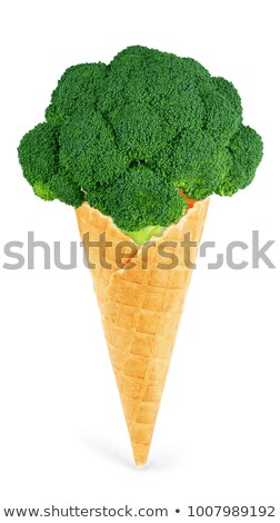 Broccoli in ice Stock photo © Givaga