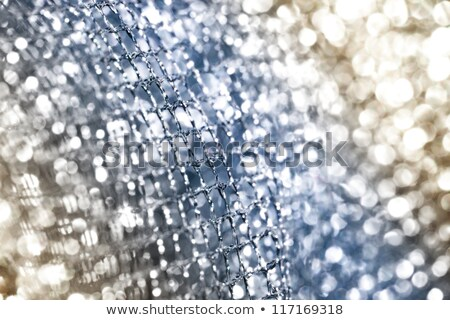 lustrous elegant silver fabric Stock photo © Nneirda