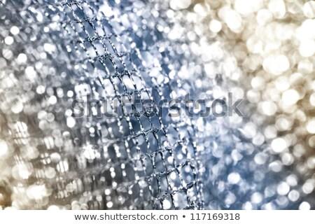 lustrous elegant silver fabric stock photo © nneirda