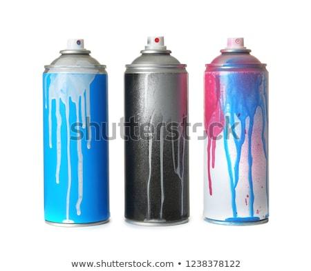 aerosol · sprey · boya · el · yalıtılmış · beyaz · eller - stok fotoğraf © jeremywhat