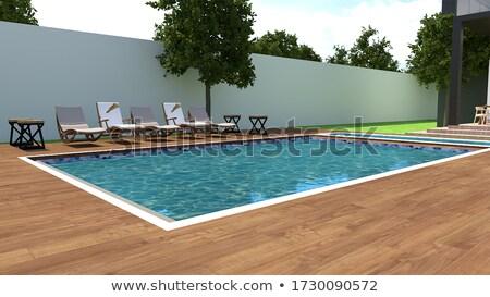Сток-фото: 3D · Бассейн · 3d · иллюстрации · дизайна · бассейна · синий