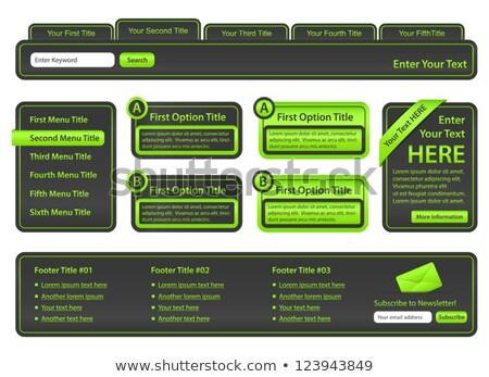 Ingesteld website communie top menu kant Stockfoto © liliwhite