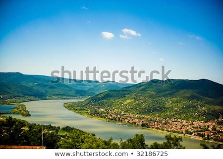 лодках · красивой · пейзаж · озеро · зеленый · растительность - Сток-фото © mady70