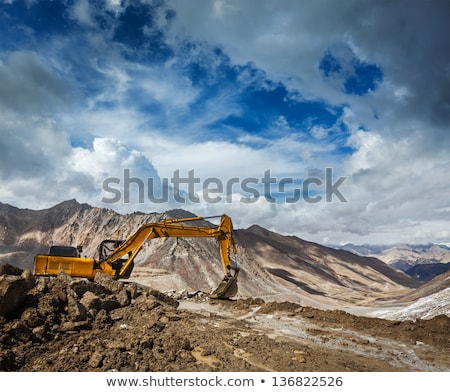 Road construction in mountains Himalayas Stock photo © dmitry_rukhlenko