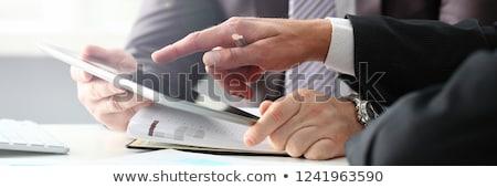 Affaires stylo costume sur caméra Photo stock © gemphoto