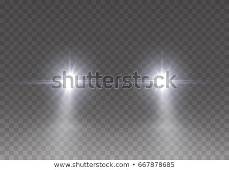 Auto luci bagliore strada foresta sfondo Foto d'archivio © hraska