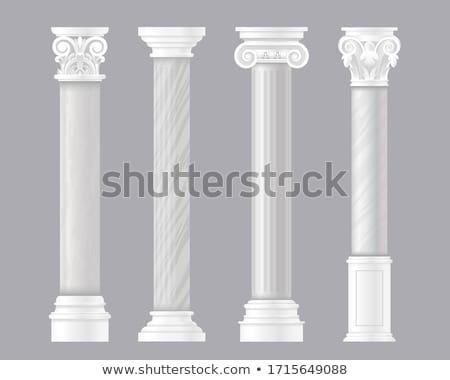 Old roman pillars Stock photo © dinozzaver