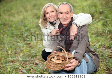 man looking for mushrooms stock photo © photography33