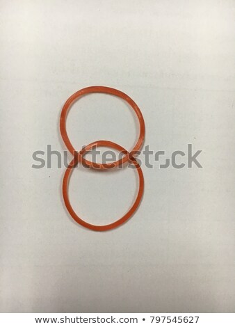 Two color circle rubber bands intersection Stock photo © lunamarina