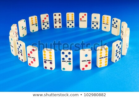 dominó · peças · grupo · preto · branco - foto stock © lunamarina