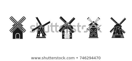 öreg fából készült propeller szél nyár építészet Stock fotó © borysshevchuk