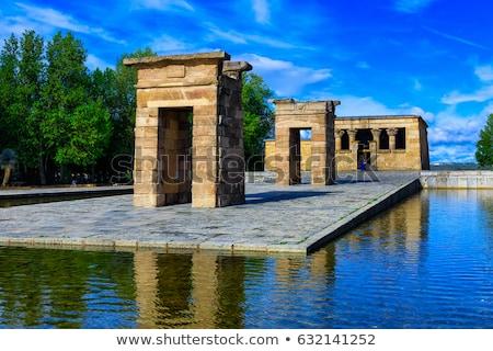 Madryt starożytnych egipcjanin świątyni Hiszpania budynku Zdjęcia stock © Bertl123