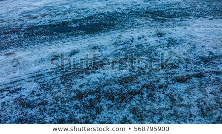 salt texture with truck footprint for road ice Stock photo © lunamarina