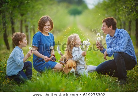 mooie · vrouw · appel · bos · portret · blootsvoets · vrouw - stockfoto © chesterf