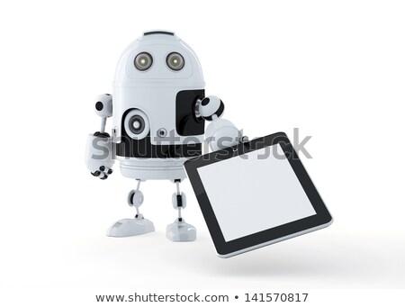 Andróide robô tela ilustração 3d homem Foto stock © Kirill_M