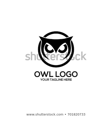 owl bird head as halloween symbol for mascot or emblem design such a logo stock photo © hermione