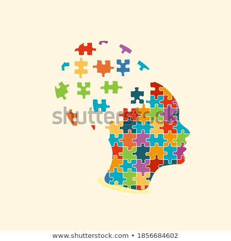 psychological concept on multicolor puzzle stock photo © tashatuvango