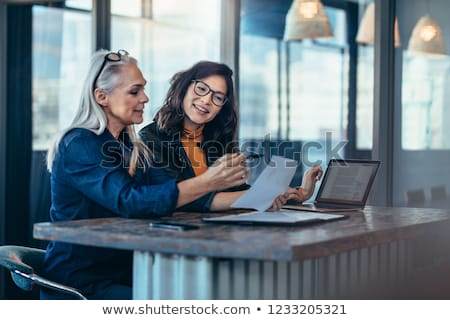 Casual mixed-race Asian Caucasian woman smiling looking happy Stock photo © pxhidalgo